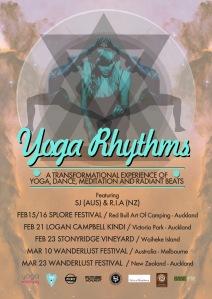 YogaRhythms Tour Poster 2014