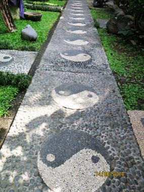 Blissful paving - Yoga Barn